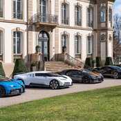 ภาพหาชมยาก เมื่อ Bugatti 6 คันจอดร่วมเฟรม มูลค่ารวมกว่า 1 พันล้านบาท!