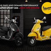 เรโทรนิดๆ สปอร์ตหน่อยๆ! Vespa GTS Super Sport 300 HPE ค่าตัวสองแสนเศษ