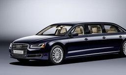 'Audi A8L Extended' ใหม่ ลีมูซีน 6 ประตูสุดหรูเผยโฉมที่ยุโรป