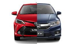เทียบสเป็ค Toyota Vios 2017 และ Honda City 2017 รุ่นท็อปกับราคาต่างกันเฉียด 4 หมื่น