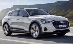 Audi e-tron quattro 2018 ใหม่ รถไฟฟ้าคู่แข่ง Benz EQC พร้อมขายจริงปลายปีนี้
