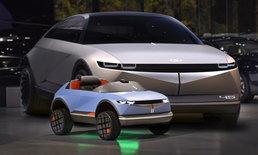 """น่ารักไม่เบา! Hyundai เผยโฉมรถยนต์ไฟฟ้าขนาดจิ๋วที่พัฒนาจากรถยนต์ต้นแบบ """"45"""""""