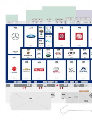 แผนผัง Motor Expo 2018