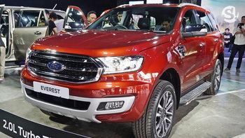 Ford Everest 2018 ไมเนอร์เชนจ์ใหม่ พร้อมขุมพลังเทอร์โบคู่ 2.0 ลิตร เริ่ม 1,299,000 บาท