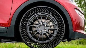 """Michelin จับมือ GM เผยโฉม """"ยางไร้ลม"""" ไม่ต้องกลัวยางแบนตลอดอายุการใช้งาน"""
