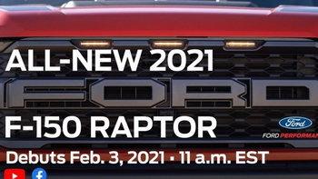 ทีเซอร์ All-new Ford F-150 Raptor 2021 ใหม่ ก่อนเปิดตัวจริง 3 ก.พ.นี้ ที่สหรัฐอเมริกา