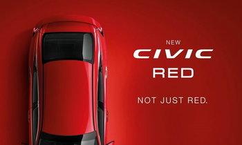 Honda Civic 2018 สีแดง Rallye Red เผยทีเซอร์ก่อนเปิดตัวจริงในไทย
