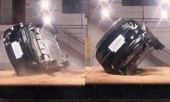 Tesla Model X เผยคลิปทดสอบการคว่ำ... แต่กลับไม่ยอมคว่ำ!