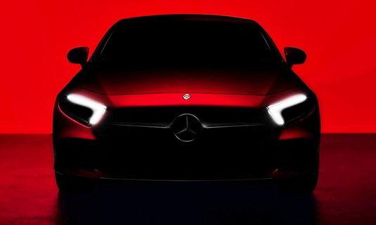 Mercedes-Benz CLS 2018 ใหม่ เผยภาพทีเซอร์ก่อนเปิดตัวปลายเดือนนี้