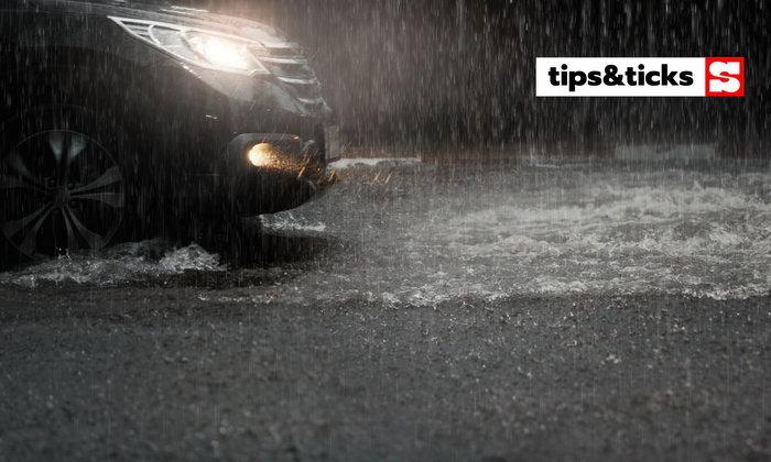 4 สิ่งควรทำขณะขับรถยามฝนโปรย