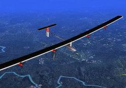 เครื่องบินพลังงานแสงอาทิตย์สัญชาติสวิสบินข้ามประเทศครั้งแรก