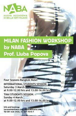 MILAN FASHION WORKSHOP by NABA