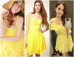 คอลเลคชั่นเสื้อผ้าสีเหลืองสุดจิ๊ด