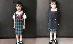 น้องลัลลาเบล สดใส สวมชุดนักเรียนไปโรงเรียนวันแรก
