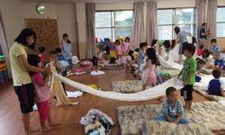 กิจกรรมการค้างแรมของเด็กอนุบาลญี่ปุ่นฟันน้ำนม