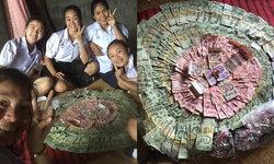 """""""นักเรียนเก็บเงินเที่ยวกันเอง"""" ไม่รบกวนผู้ปกครอง วันละ 10 บาทไม่ถึงปี ได้เงิน 15,300 บาท"""