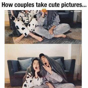 ท่าโพสถ่ายรูปคู่ แบบน่ารักๆ