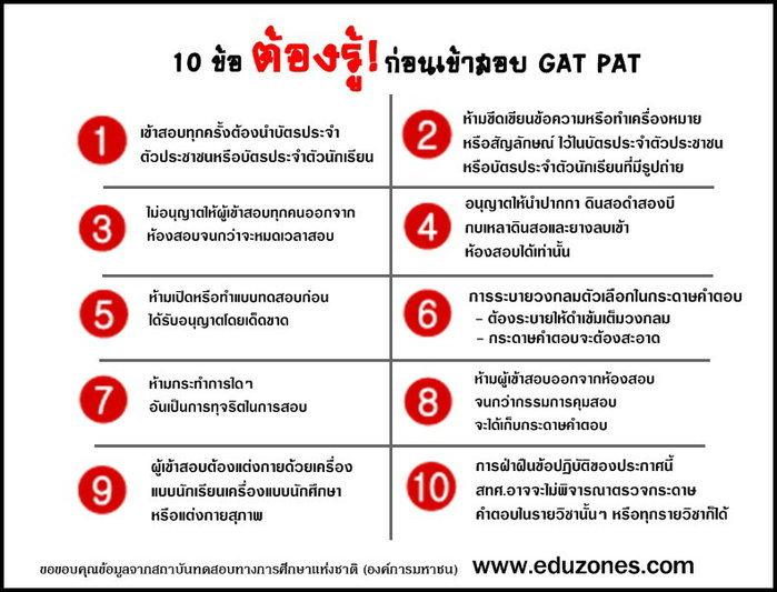 10 ข้อต้องรู้! ก่อนสอบ GAT PAT
