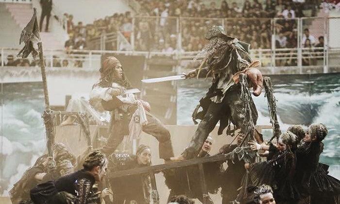 """ไอเดียดีมีคุณภาพ """"เชียร์ลีดเดอร์"""" มศว จัดเต็มลีดธีม Pirates of the Caribbean"""