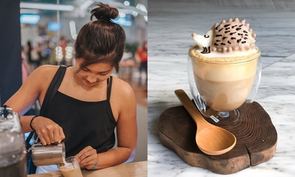 ศิลปะบนแก้วกาแฟ ผลงานของบาริสต้าวัยรุ่นสาวชาวสิงคโปร์