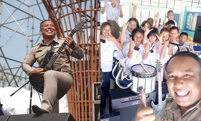 """""""ครูน้อย กิตติชัย"""" ครูซ่าเปิดตำราร็อคตัวจริง ที่ใช้เพลงร็อคสร้างความสุขให้นักเรียน"""
