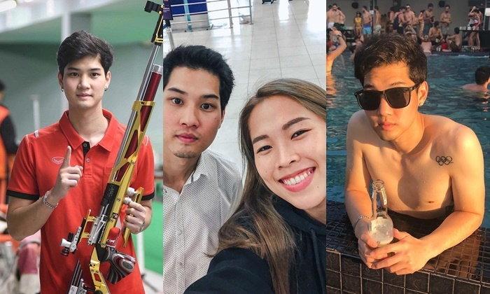 """ประวัติ """"อัส-นภิศ ต่อตั้งพานิช"""" หนุ่มหล่อ นักยิงปืนทีมชาติไทยจากจังหวัดเชียงใหม่"""