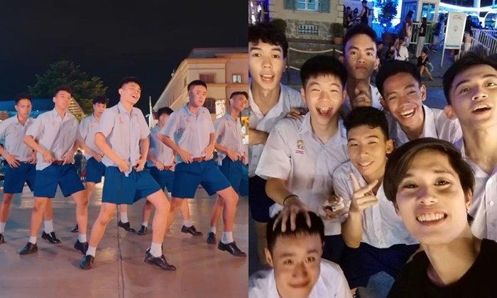 เด็กไทยเก่งจริงๆ MONKEY KISS จาก โรงเรียนเซนต์คาเบรียล โคฟเวอร์ BTS ในชุดนักเรียน