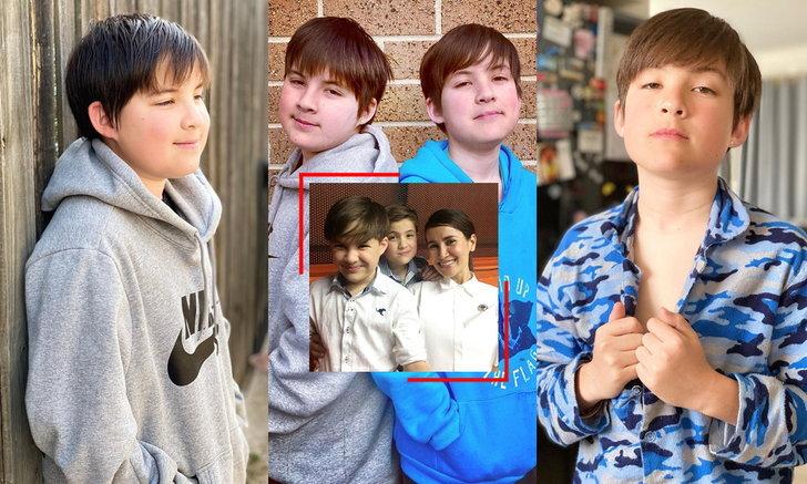 """โตเป็นหนุ่มกันแล้ว """"เฮเดน-โจชัว"""" สองแฝดสุดน่ารักหลานชาย เติ้ล ตะวัน จาก """"อย่าลืมฉัน"""""""