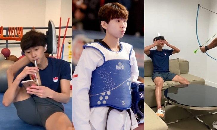 """Ng Ming Wei"" เน็ตไอดอลสายฮา พ่วงนักกีฬาเทควันโดทีมชาติสิงคโปร์"