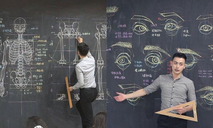 สวยขั้นเทพ อาจารย์วาดภาพประกอบกายวิภาคศาสตร์ เหมือนหลุดมาจากตำราเรียน