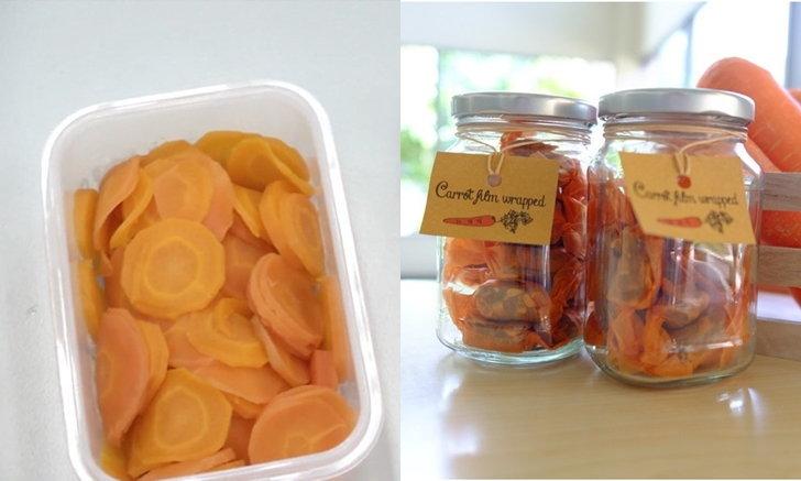 คนไทยไอเดียดีคิด นวัตกรรมฟิล์มห่ออาหารจากแครอท ลดปัญหาขยะพลาสติก