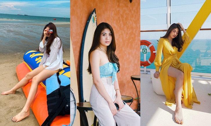 """ประวัติ """"เค้กส้ม สุกัญญา"""" แฟนเสนาหอย สาวสวย ม. กรุงเทพ ดีกรีผู้เข้าประกวดนางสาวไทย"""