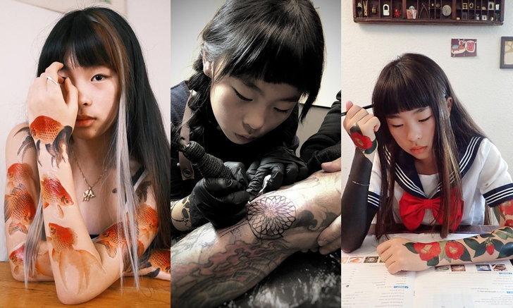 ช่างสักวัยมัธยม น้องโนโกะ เรียนรู้ศิลปะการสักตั้งแต่ 6 ขวบ คนตามกว่าสองแสน