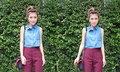 มิกซ์แอนด์แมทช์ เสื้อผ้า สไตล์ แอปเปิ้ล สีสะเหงี่ยน