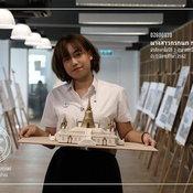 """""""ผลงานออกแบบเจดีย์"""" ของนักศึกษาคณะสถาปัตยกรรมศาสตร์"""