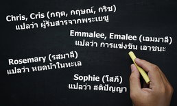 """รวม """"ชื่อที่สะกดได้หลายภาษา"""" พร้อมความหมาย อ่านเป็นอังกฤษก็เก๋ อ่านเป็นไทยก็น่ารัก"""