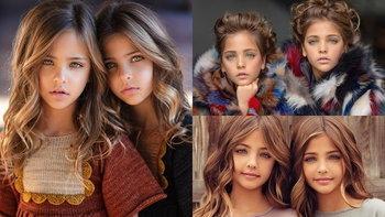 """เอวา และ ลีอา """"ฝาแฝดหญิงที่สวยที่สุดในโลก"""" คนตามไอจีมากกว่า 1.4 ล้านคน"""