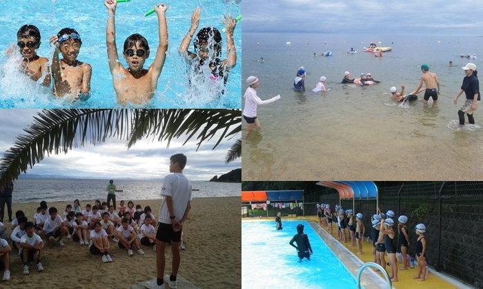 สอนเด็กญี่ปุ่นว่ายน้ำ หนึ่งในวิชาจำเป็นเพื่อให้เด็กเอาตัวรอดจากภัยทางน้ำ