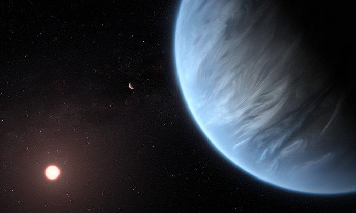 """พบโมเลกุล """"น้ำ"""" บนดาวเคราะห์นอกระบบสุริยะที่เอื้อต่อสิ่งมีชีวิตได้เป็นครั้งแรก"""