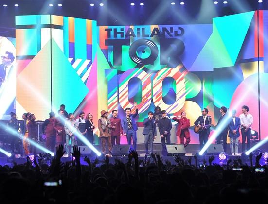 Thailand Top100 by JOOX ปรากฏการณ์รวมบทเพลงฮิตบนเวทีคอนเสิร์ตที่พีคที่สุดแห่งปี