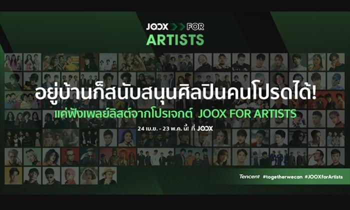100 ศิลปิน 100 เพลย์ลิสต์ ใน JOOX for Artists เพื่อสนับสนุนผลงานศิลปินให้เดินหน้าต่อ