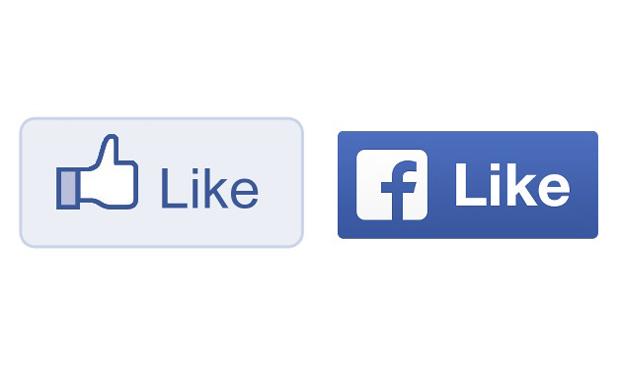 เปลี่ยนปุ่มไลท์ (Like) ใหม่ ใช้โลโก้ Facebook แทน