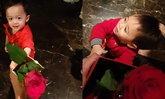"""""""สายฟ้า-พายุ"""" ให้กุหลาบแดงวาเลนไทน์ น่ารักมาก 2 ดอก วนทั้งบ้าน"""