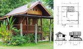 บ้านสวนราคาประหยัดสไตล์ไทยโบราณ โครงสร้างยกพื้นสูงมีใต้ถุน งบประมาณไม่เกิน 4 แสนบาท