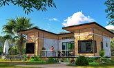 แบบบ้านสไตล์โมเดิร์นลอฟท์ ออกแบบเป็นที่พักริมน้ำโดยเฉพาะ 2 ห้องนอน 2 ห้องน้ำ พื้นที่ 101 ตร.ม.