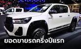 โตโยต้าเผยตลาดรถครึ่งปีแรก 2564 ยอดขายกว่า 373,191 คัน โตขึ้น 13.6%