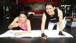 แอน ญาญ่า นางเอก 2 รุ่น ออกกำลังกายด้วยกัน หุ่นเป๊ะทั้งคู่