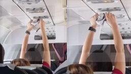 โอ้มายก๊อด แฉคลิปผู้โดยสารแอบผึ่งกกน. บนเครื่องบิน งานนี้ต้องเห็นใจเพื่อนร่วมทาง