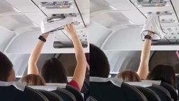 ทำไปได้!! สาวสุดเปิดเผย ควักกางเกงใน ขึ้นมาตากแอร์บนเครื่องบิน