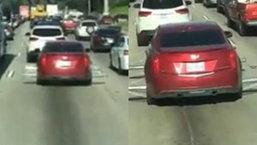 โหดแท้ เก๋งติดอะไรไม่รู้ไว้ที่ล้อหมุนควงราวกับสว่าน รถติดๆใครจะกล้าเข้าใกล้พี่ละครับ!!!